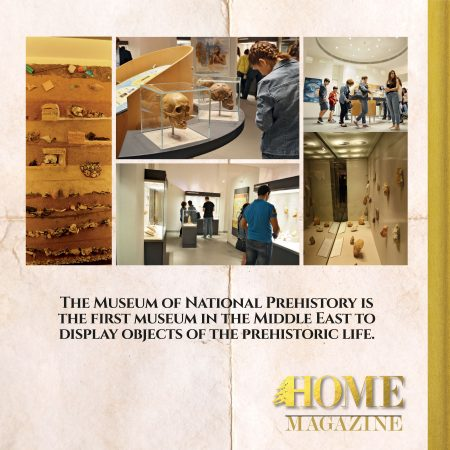 """The museum of natural prehistory is the first museum in the middle east to display objects of the prehistoric life."""
