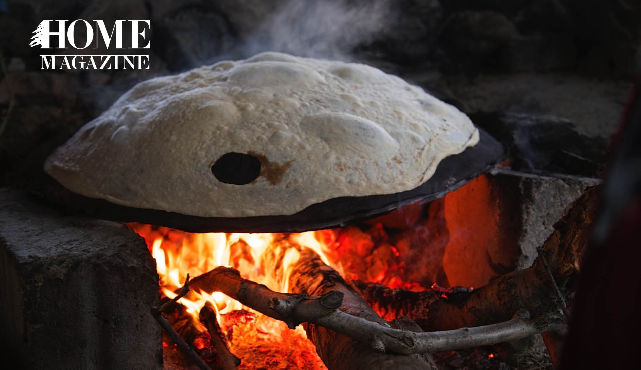 Bread being cooked