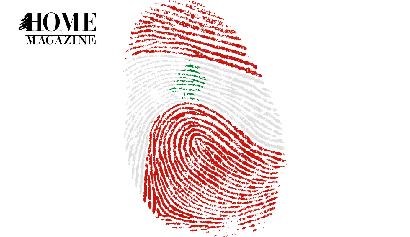 Lebanese flag fingerprint