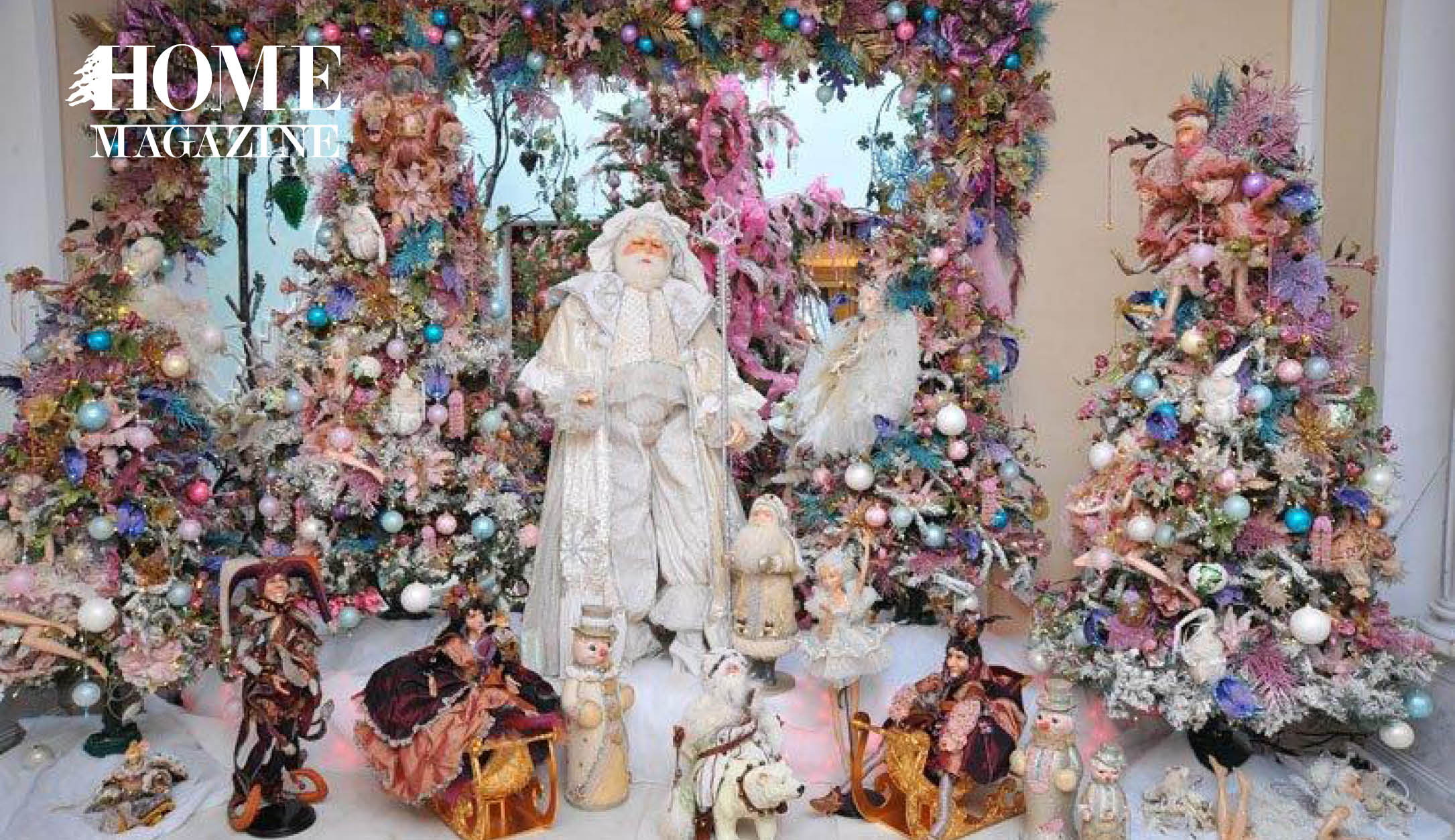 Christmas trees and Statues