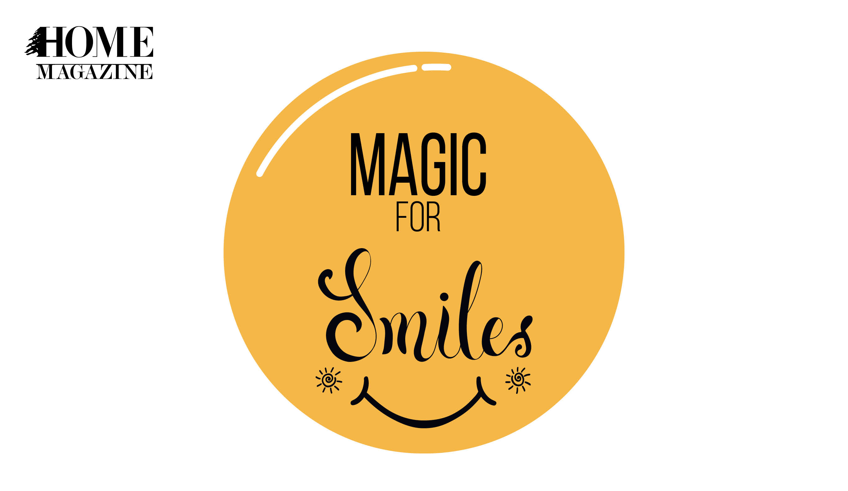 Magic for Smiles text in yellow circle