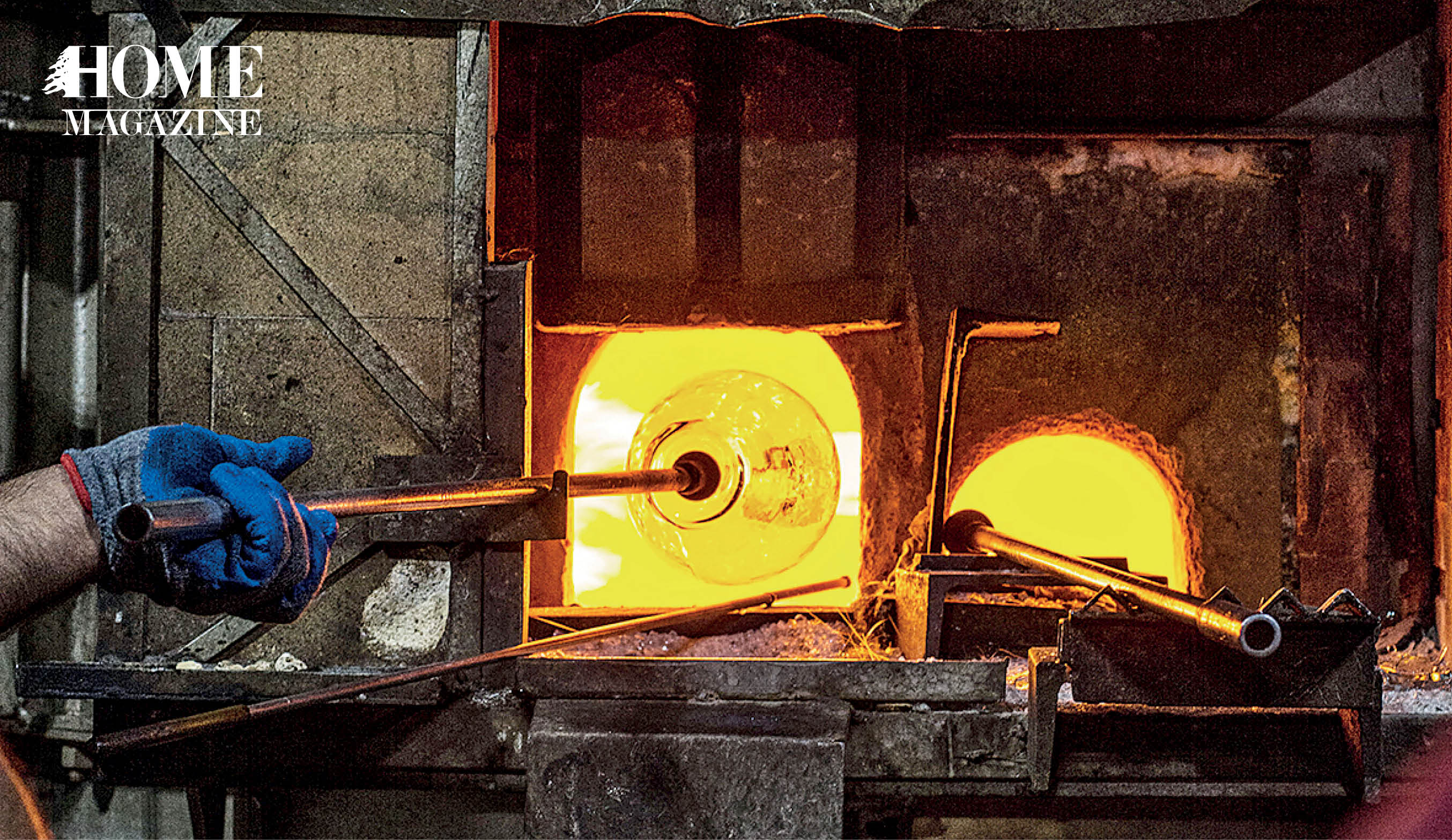 Oven making glass