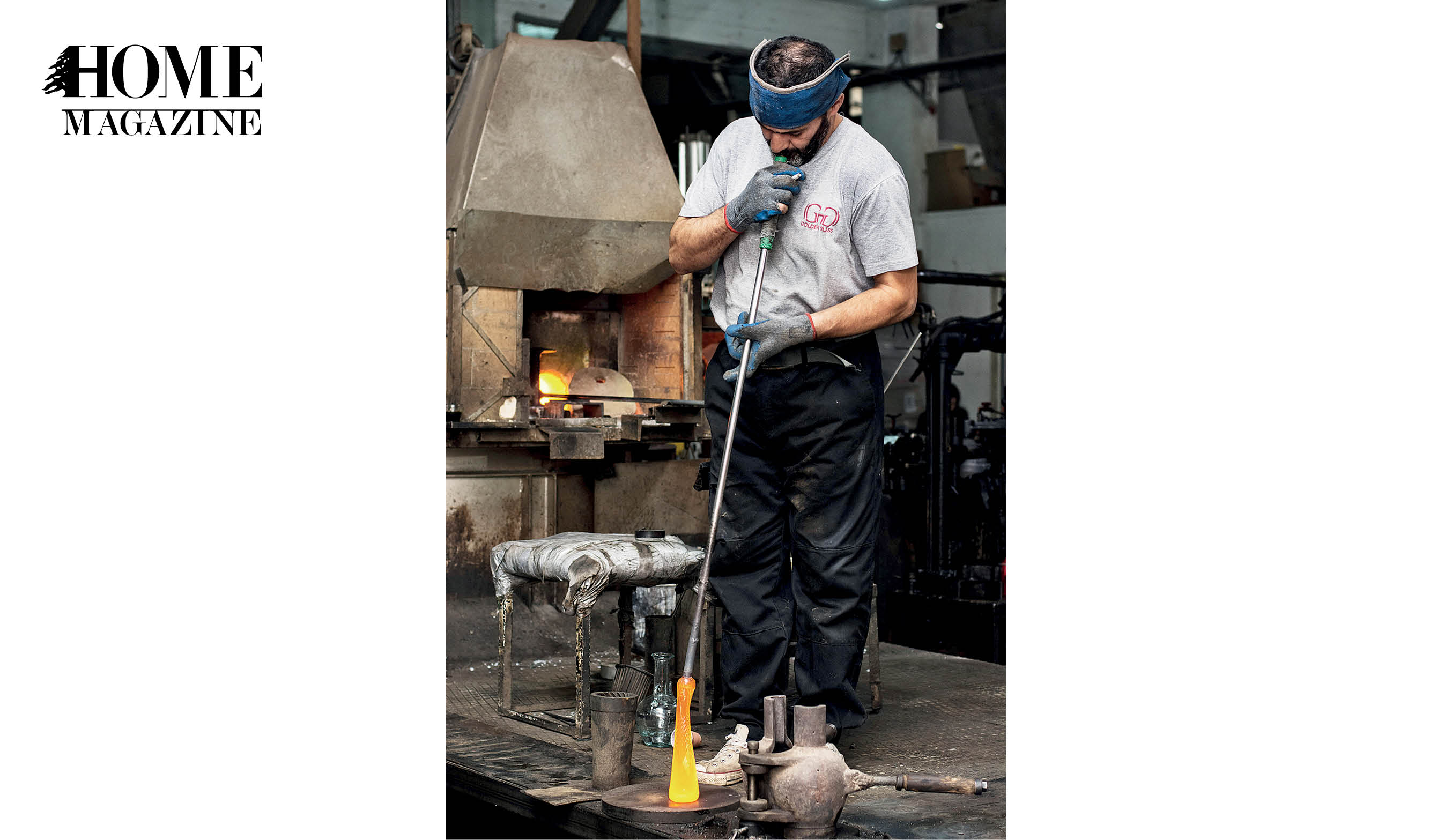 Man making glass