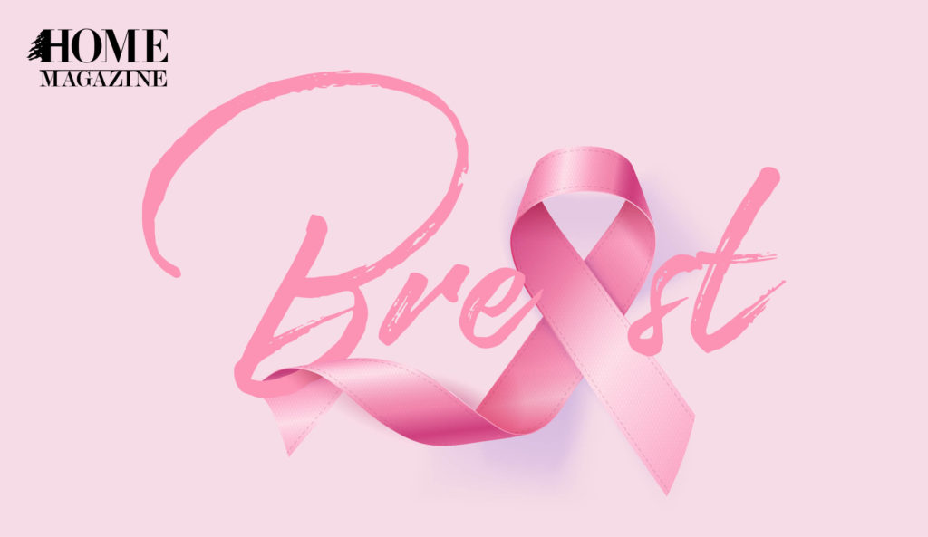 Breast cancer writing in pink