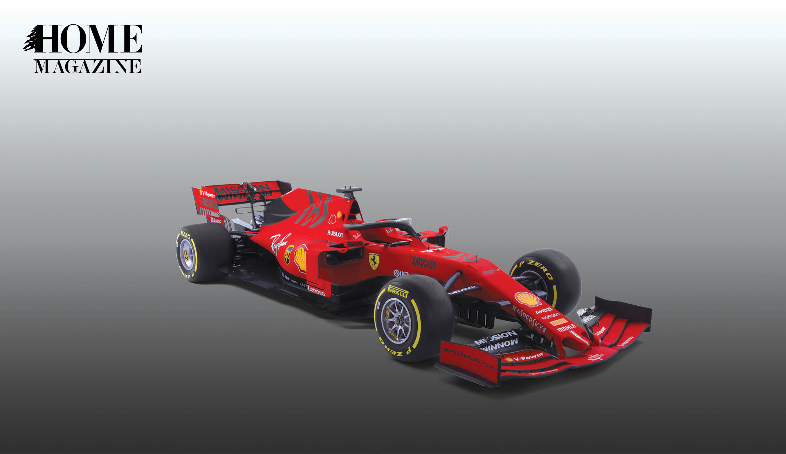 Red racing car