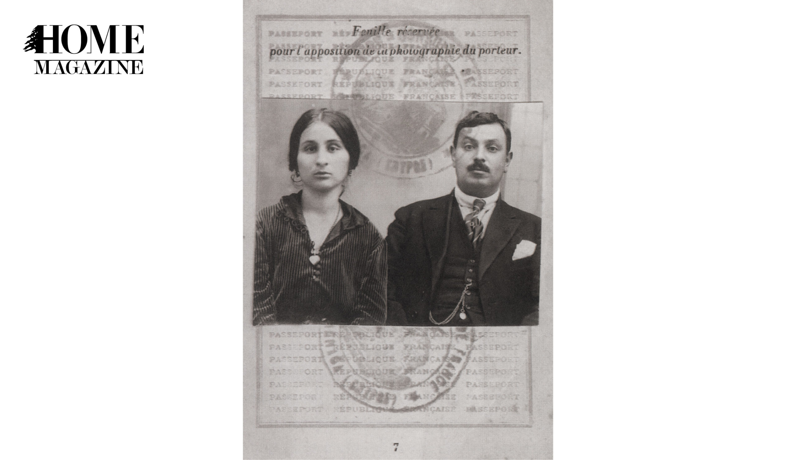 Picture of a man and woman in black and white