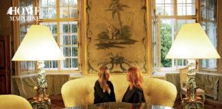 Two women in a salon setting