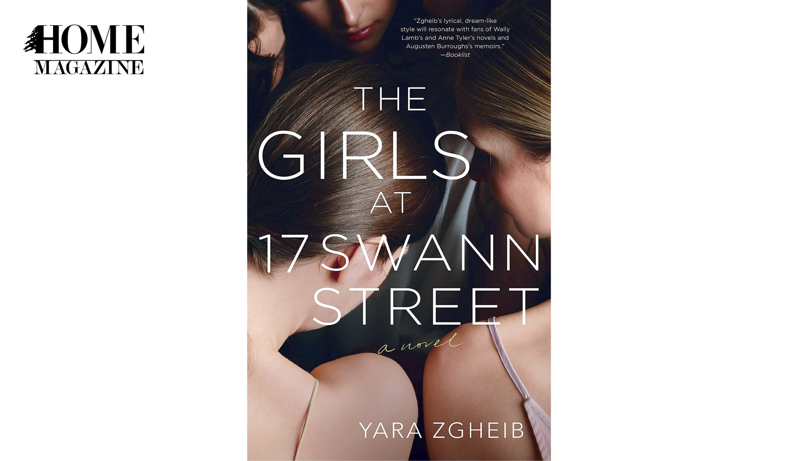 Booked cover titled The Girls at 17 Swann Street with background image of 2 girls