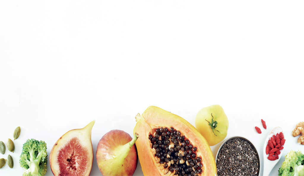 Fruits, vegetables and seeds