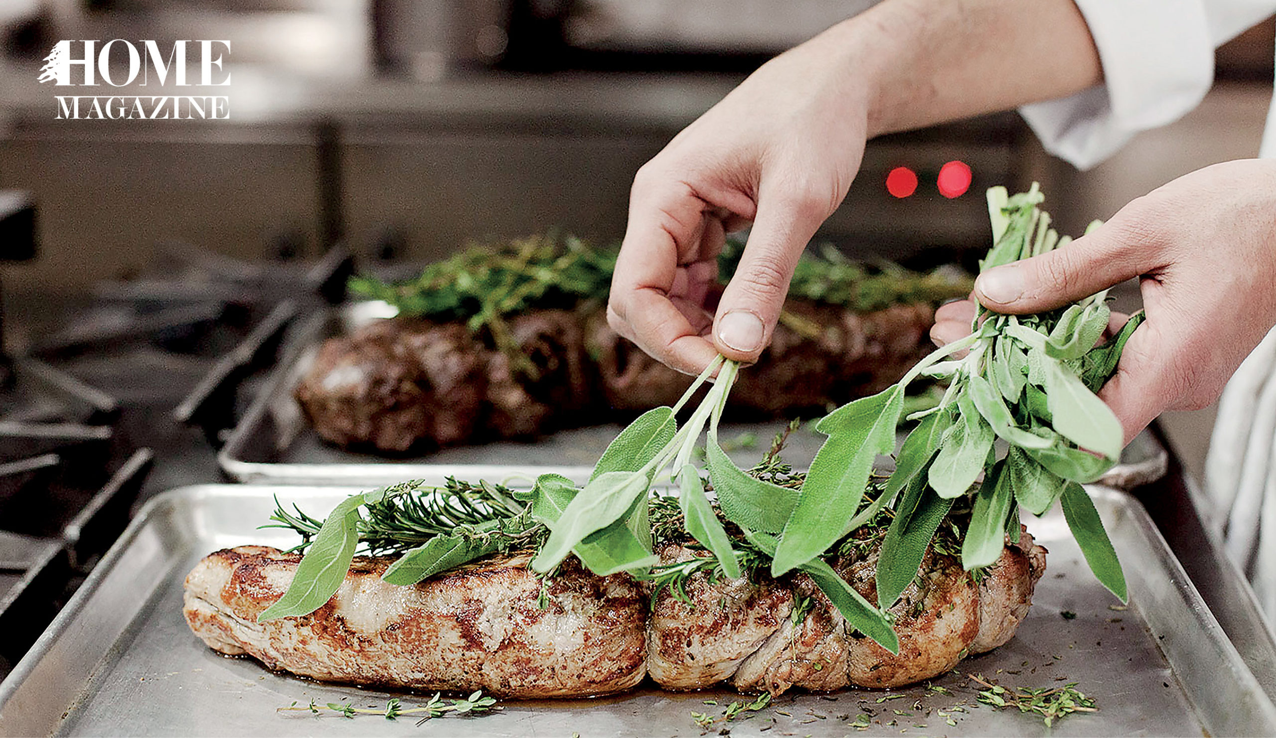 Chicken breast with green herbs