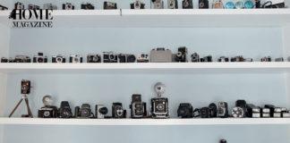 Cameras on shelves