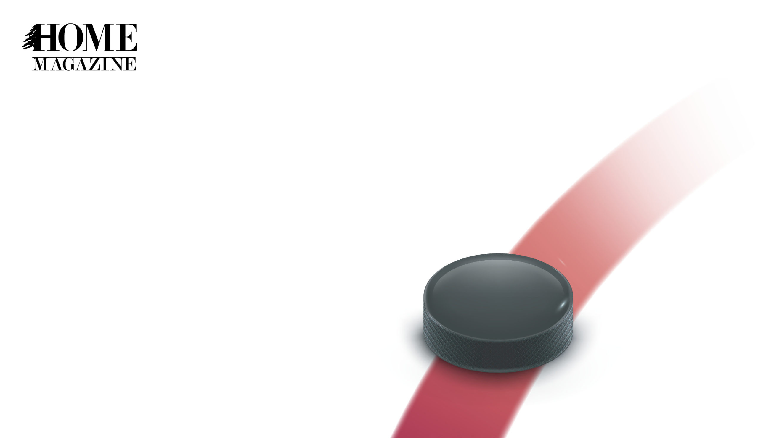 Illustration of black circled object on a red stripe