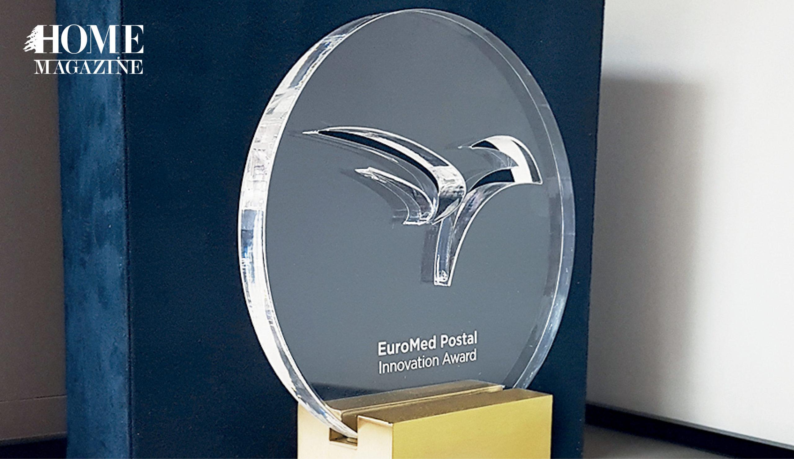 Circular glass trophy