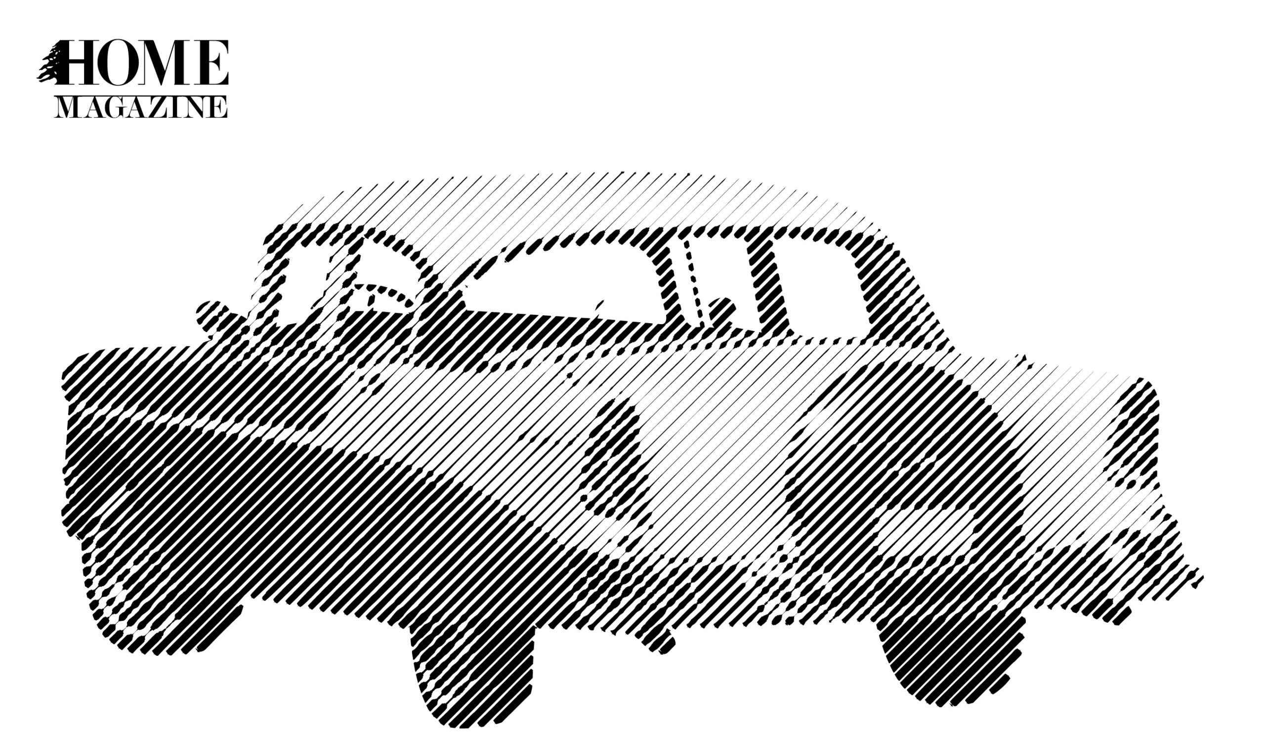 A car in black and white