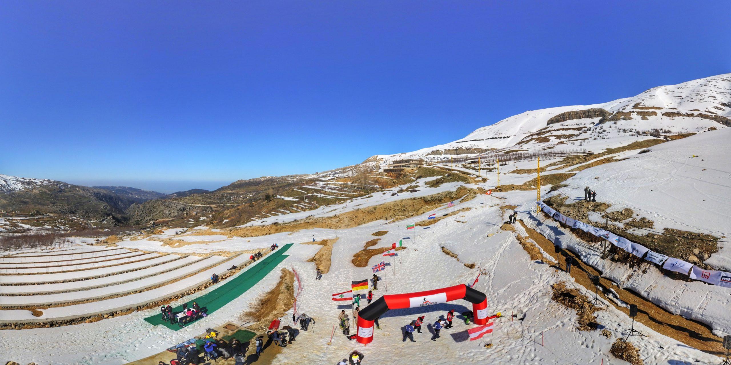 Snow on mountain slopes