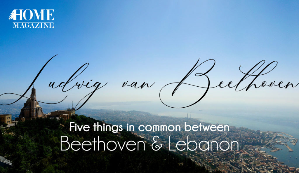 a view picture with the words Ludwig van Beethoven written and a small sentence
