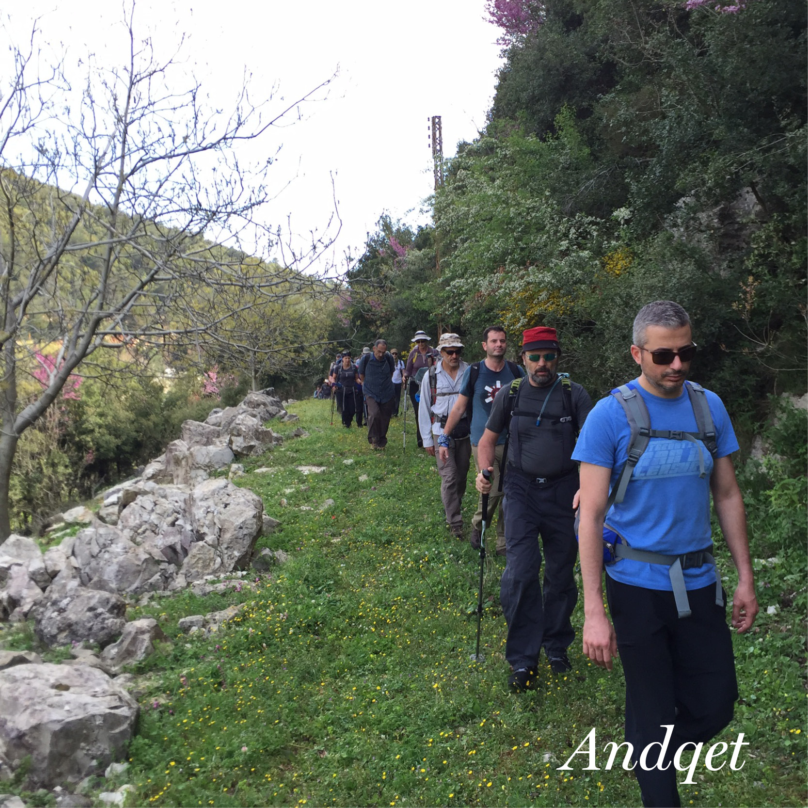 people hiking in Andqet